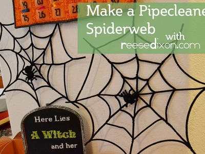 Make a Pipecleaner Spiderweb