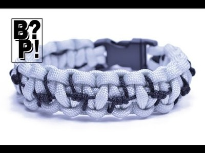 """Make the """"Barbed Wire Accented"""" Paracord Survival Bracelet  - BoredParacord.com"""