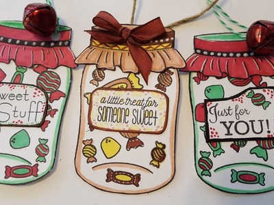 Mason Jar Gift Tags - Holiday Christmas Crafts