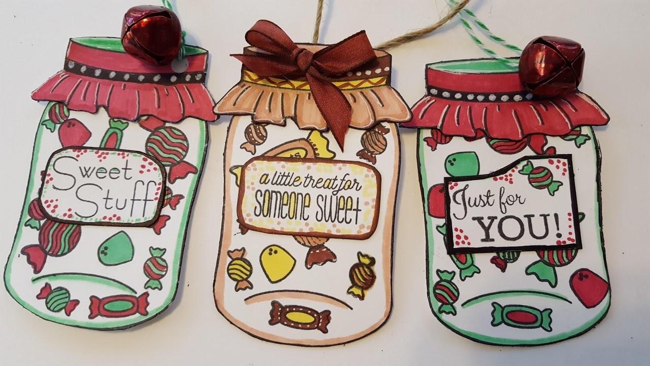Mason Jar Gift Tags - Holiday Christmas Crafts