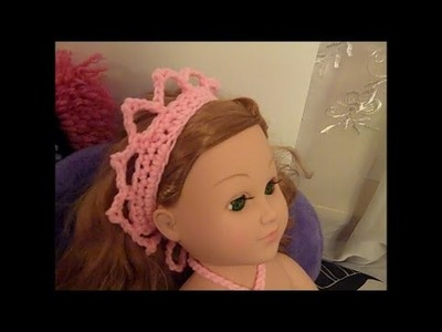 Mermaid Doll Outfit - How to Crochet a Mermaid Crown (Part 2) - Red Heart Yarn Pattern