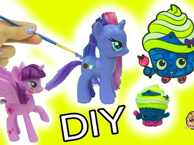 My Little Pony Custom Painting & Shopkins Limited Edition Cupcake Queen Inspired DIY