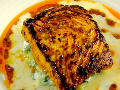 Tandoori Spiced Halibut with Cucumber Raita | Gordon Ramsay's The F Word Season 3