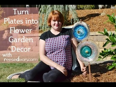 Turn Glass Plate Into Flowers! Outdoor Decor Tutorial!