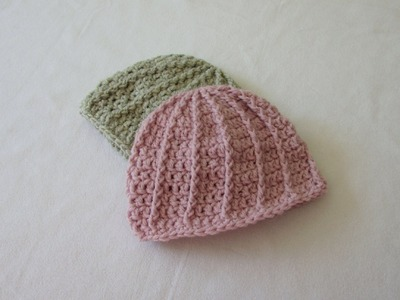 VERY EASY crochet cable baby hat. beanie tutorial