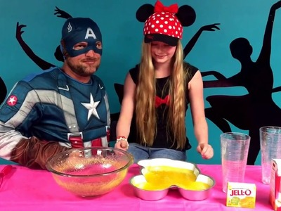 Awesome DIY giant gummy Mickey Mouse. Featuring real Disney princess Ella w captain America