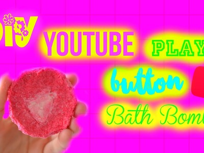 DIY Bath Bomb | Youtube Play Button | WITHOUT citric acid, cornstarch and cream of tartar