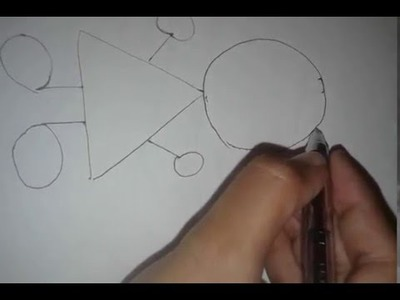 DIY :  Draw A Girl With Geometrical  Shapes