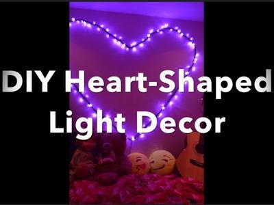 DIY Heart-Shaped Light Decor