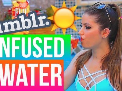 DIY TUMBLR FRUIT INFUSED WATER | GIANNA CHRISTINE