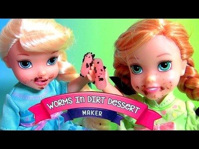 Gummy Worms Candy in Dirt Dessert Yummy Nummies DIY Dirt Cookies Desserts Disney Frozen Anna Elsa