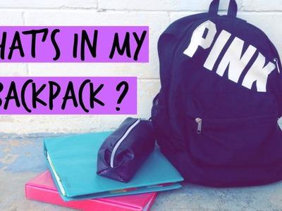 What's in my Backpack + DIY Emergency Kit !