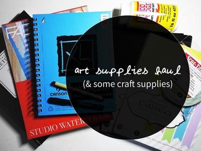 Art Supplies Haul! (& some craft supplies)