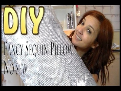 Craft DIY : Sequin Classy Siver Pillow ( No sew). Cup n Cakes Gourmet