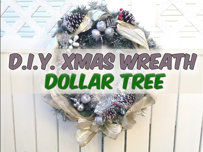 D.I.Y. Christmas Wreath Makeover Dollar Tree Ornaments - Holiday 2016