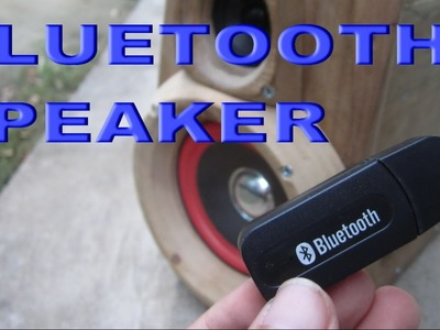 D.I.Y - Convert wired speaker into wireless bluetooth speaker