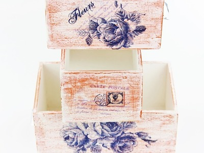 Decoupage Wooden Boxes - Fast & Easy Tutorial - DIY
