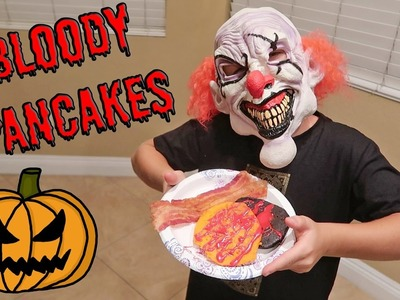 DIY BLOODY HALLOWEEN PANCAKES!