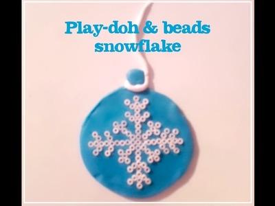 DIY Christmas Craft - Play-Doh Snowflake