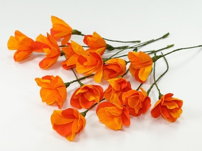 DIY Crafts: Duplex Crepe Paper Flowers (Orange Poppy Flower Craft)