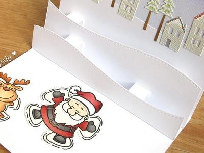 DIY: Double Pop-Up Panel | Christmas card
