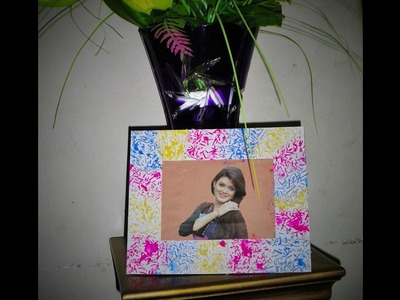 DIY EASY PHOTO FRAME(Birthday gift. valentine day gift idea) made with paper
