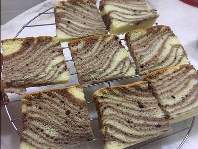 DIY Home Baking - Zebra Sponge Cake HEALTHY and EASY
