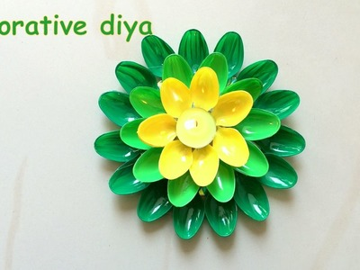 DIY - how to decorate diya for diwali? best out of waste.