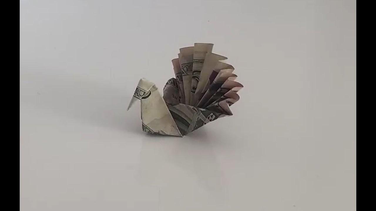 DIY How to Fold 1 Dollar Money Peacock - Easy Origami Tutorial