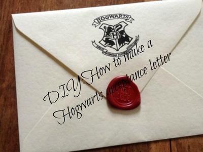 DIY: How to make a Hogwarts acceptance letter