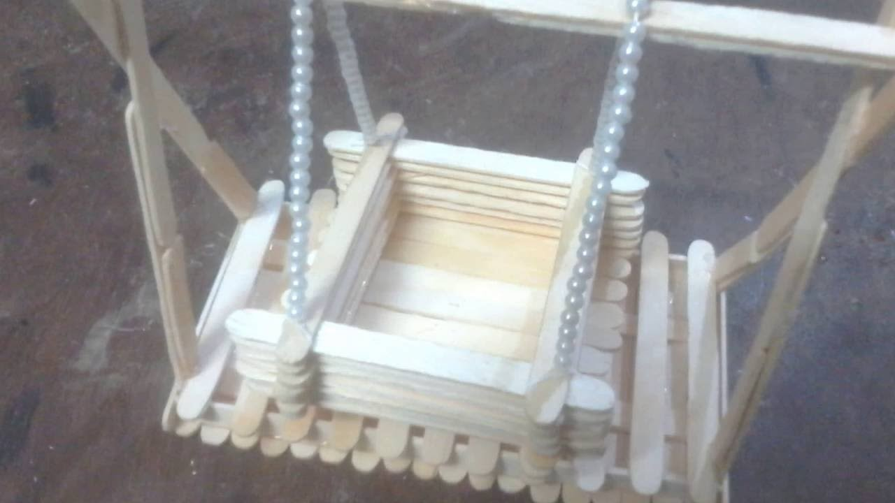 DIY: How to make toy Baby Swing with Popsicle Sticks