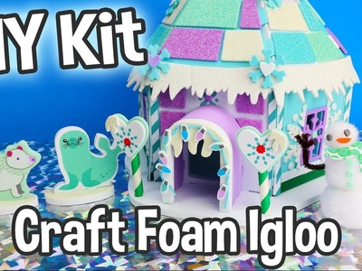 DIY Kids Craft Foam Igloo Miniature Dollhouse Kit Cute Easy Holiday Project