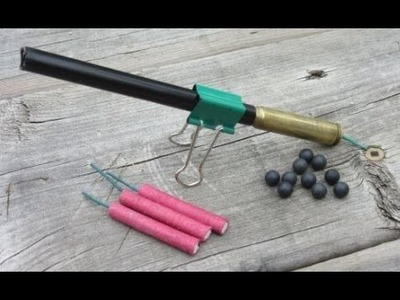 DIY - Make an Easy Firecracker Cannon  Home Made TOAP from Old Bullet Cartridge $2