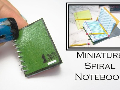 DIY Mini Spiral Notebook!