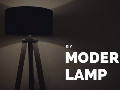 DIY Modern Lamp From Wood and 3D printed parts