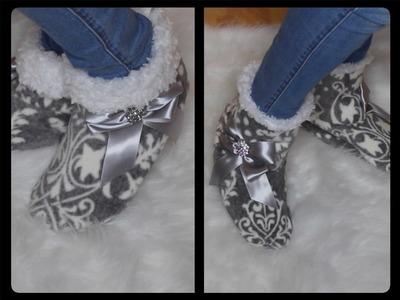 DIY Pantuflas. DIY Slippers