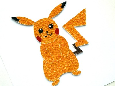 DIY Paper Quilling  Pokemon Pikachu - Cute Paper Pokemon Tutorial - Quilling Wall Decor