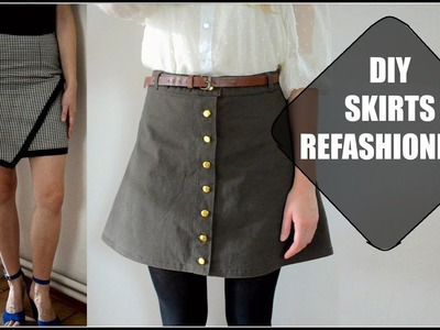 DIY skirts refashioning transformations.DIY premeny sukní (SK,EN)