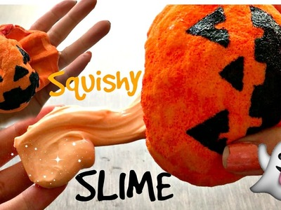 DIY SQUISHY Jack o'Lantern with SLIME Inside! | Neko Princess