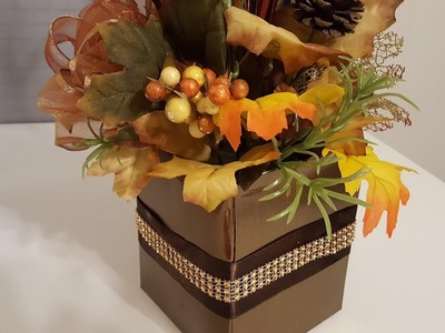DIY Thanksgiving Craft - Upcycled Tissue Box