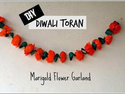 DIY Toran for Diwali | Marigold Flower Garland | Diwali Decoration