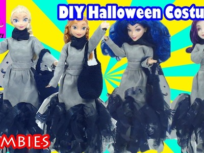 DIY Zombies Costume for Halloween Descendants Mal Evie Elsa Anna Disney Dress Up