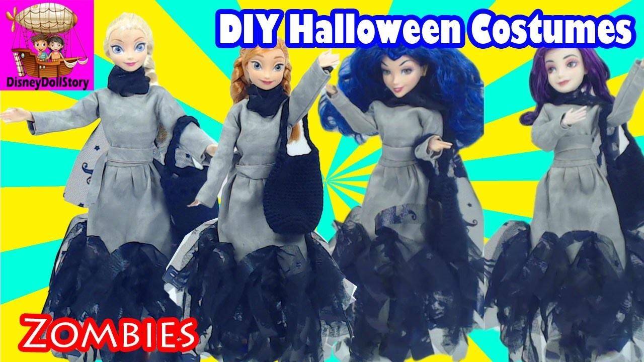 DIY Zombies Costume for Halloween Descendants Mal Evie Elsa