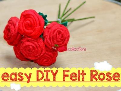 Easy DIY Felt Rose tutorial - tutorial membuat mawar dari flanel