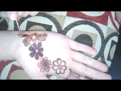 EASY DIY,HOW TO henna with NON DOMINANT hand TUTORIAL!!