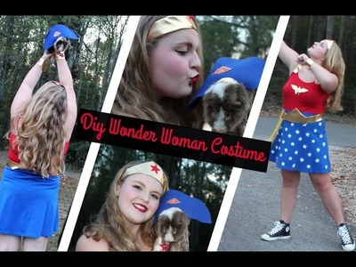 Easy DIY Wonder Woman Costume!
