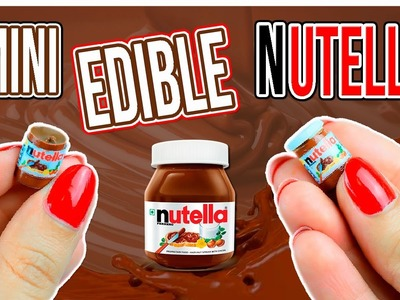 Edible Miniature Nutella Jar ~ Dollhouse Food DIY
