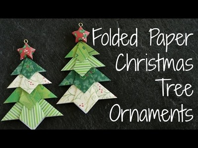 Folded Paper Christmas Tree Ornaments!! DIY Origami Ornament