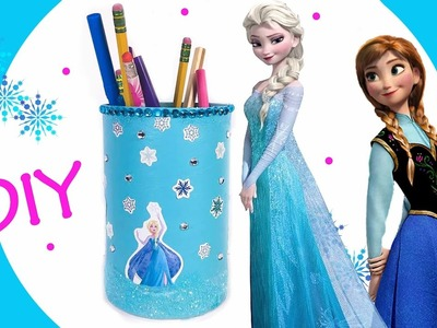 Frozen Elsa Pencil Holder | Easy DIY Disney Frozen Craft | Queen Elsa Princess Anna