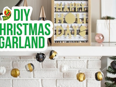 How to Craft a Duck Glitter® Tape Christmas Garland